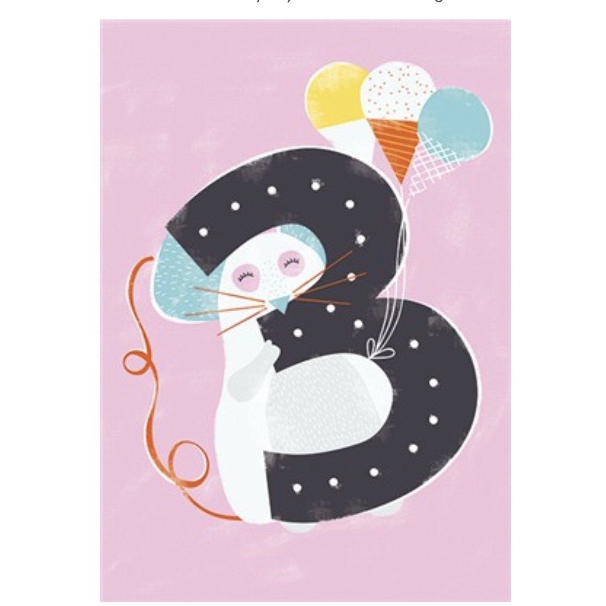 The Art File Third Birthday Card - Mouse (4706111455364)