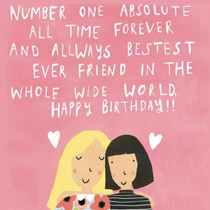 Sooshichacha Best Friend Birthday Card (5458848612518)