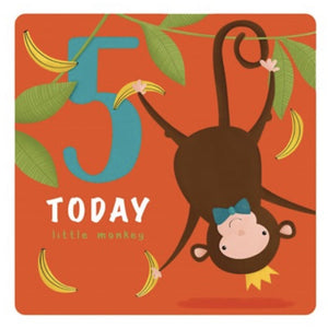 The Art File Fifth Birthday Card - Monkey (4706182332548)