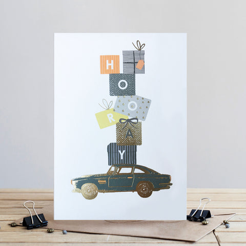 Louise Tiler Hooray Car Birthday Card (4697506087044)
