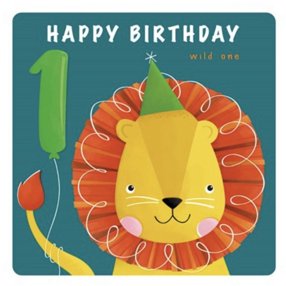 The Art File First Birthday Card - Lion (4706156281988)