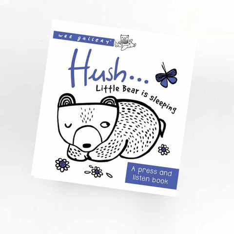 Wee Gallery: Hush...Little Bear is Sleeping - Press and Listen Sound Book (4042753933357)