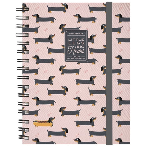 Sausage Dog Spiral Notebook (5859369451686)