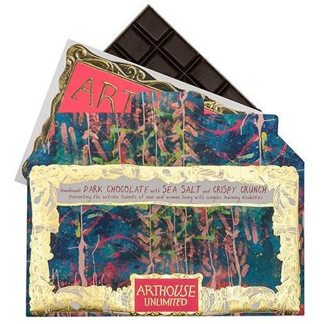 Arthouse Unlimited Handmade Dark Chocolate with Sea Salt Crispy Crunch