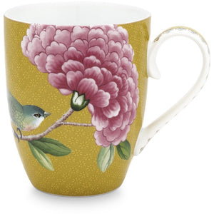 Pip Studio Blushing Birds Mug - Yellow (6067160875174)