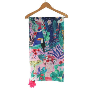Frida Kahlo Tropical Scarf (5548867879078)