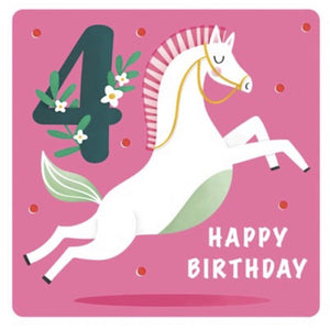 The Art File Fourth Birthday Card - Horse (4706169946244)