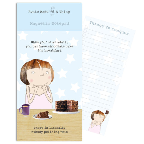 Cake for Breakfast Magnetic Notepad (6539638571174)