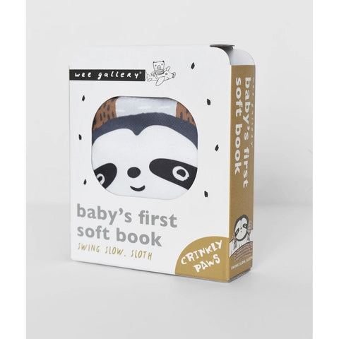 Wee Gallery Baby's First Soft Book - Sloth (5956481876134)