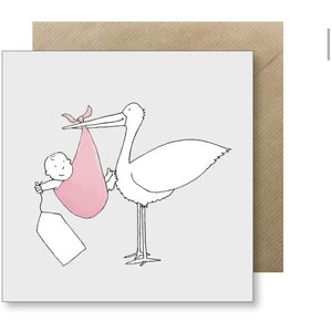 Lucy Driver New Baby Card - pink (6078269128870)