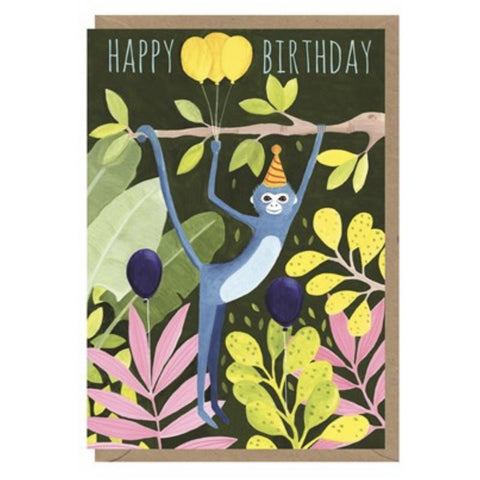 Monkey Birthday Card (6078338433190)