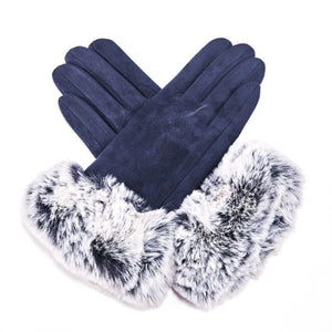 Miss Sparrow London 'Echo' Gloves - Navy (4354990669956)