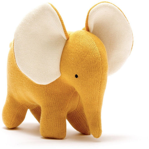 Best Years Large Organic Elephant - mustard (5786663518374)