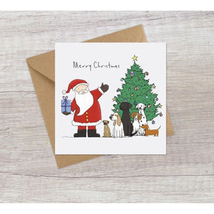 Lucy Driver Santa & Dogs Christmas Card (5933800063142)