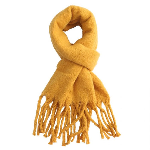 Miss Sparrow Mustard Winter Scarf (5945824444582)