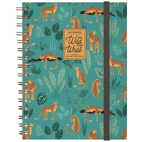 Cheetah Spiral Notebook (5859365290150)