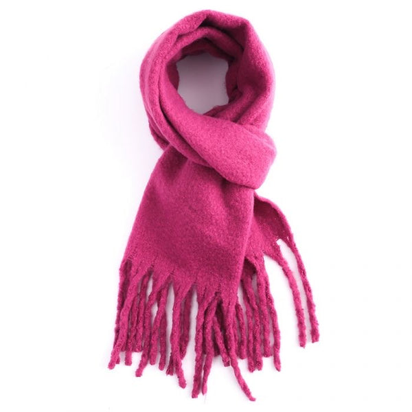 Miss Sparrow Fuchsia Winter Scarf (5945864618150)