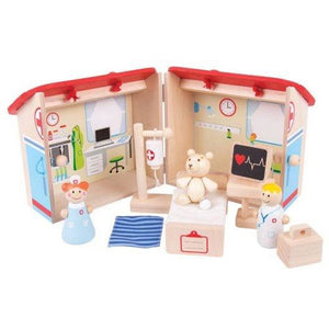 Bigjigs Toys Wooden Mini Hospital Playset (4123045298221)