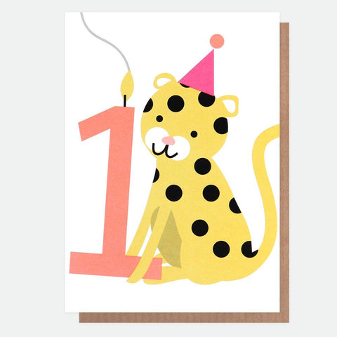 Cheetah First Birthday Card (6619812364454)