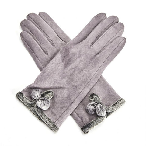 Miss Sparrow London 'Betty' Gloves - Grey (4354995650692)