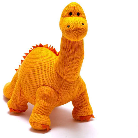Best Years Medium Diplodocus Toy - Orange
