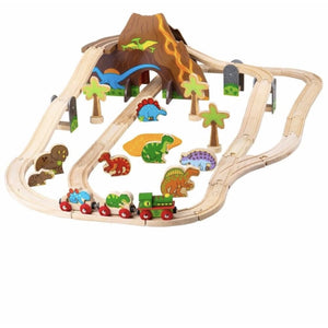 Bigjigs Rail Dinosaur Railway Set (5912776835238)