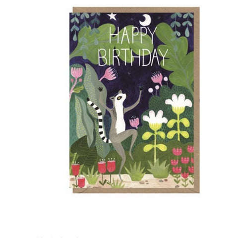Lemur Birthday Card (6078339547302)