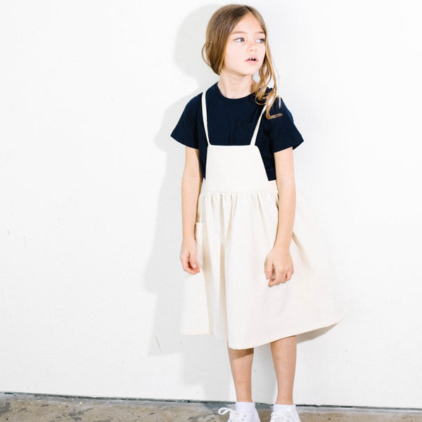 Minimal Style Spring Summer Ivory Dress for Stylish kids