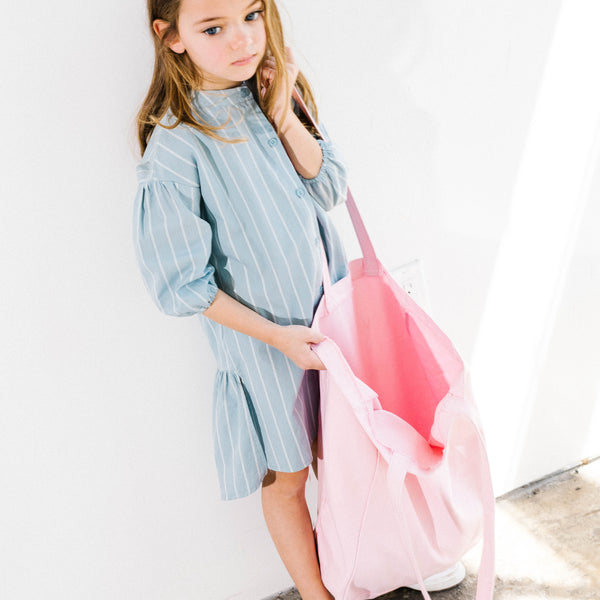 Stripe shirt dress for Stylish Kids