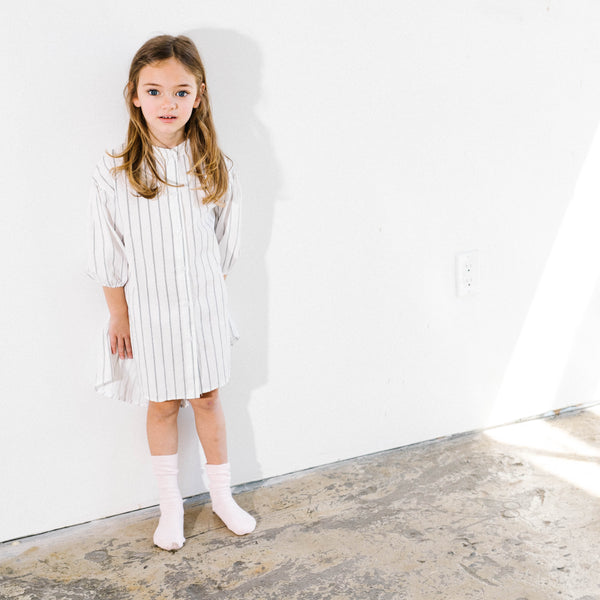 White Stripe shirt dress for Stylish Kids
