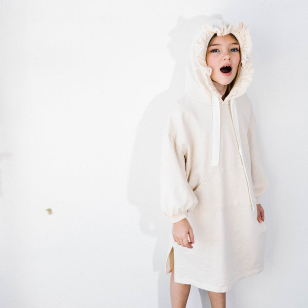 French Terry Hoodie Dress - Mondän