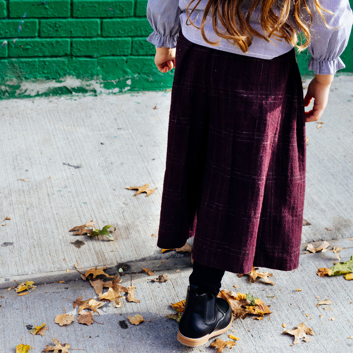 Pleated plaid pants - Mondän