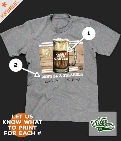 Personalized Beer Drinking Shirt printing options