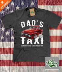 Custom Dad's Taxi Shirt in charcoal heather grey