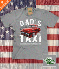 Custom Dad's Taxi Shirt in heather grey