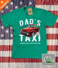 Custom Dad's Taxi Shirt in kelly green