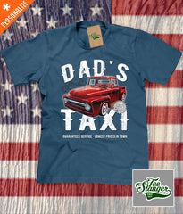 Custom Dad's Taxi Shirt in steel blue