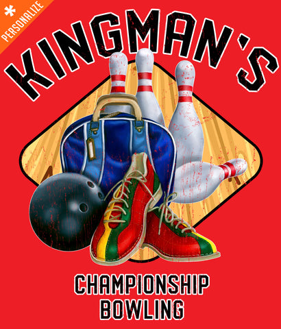 Custom Bowling Team Shirt design closeup