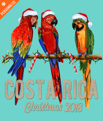 Costa Rica Christmas Shirt design closeup