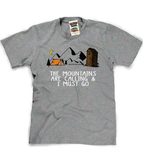 Funny Camping Tee in Heather Grey