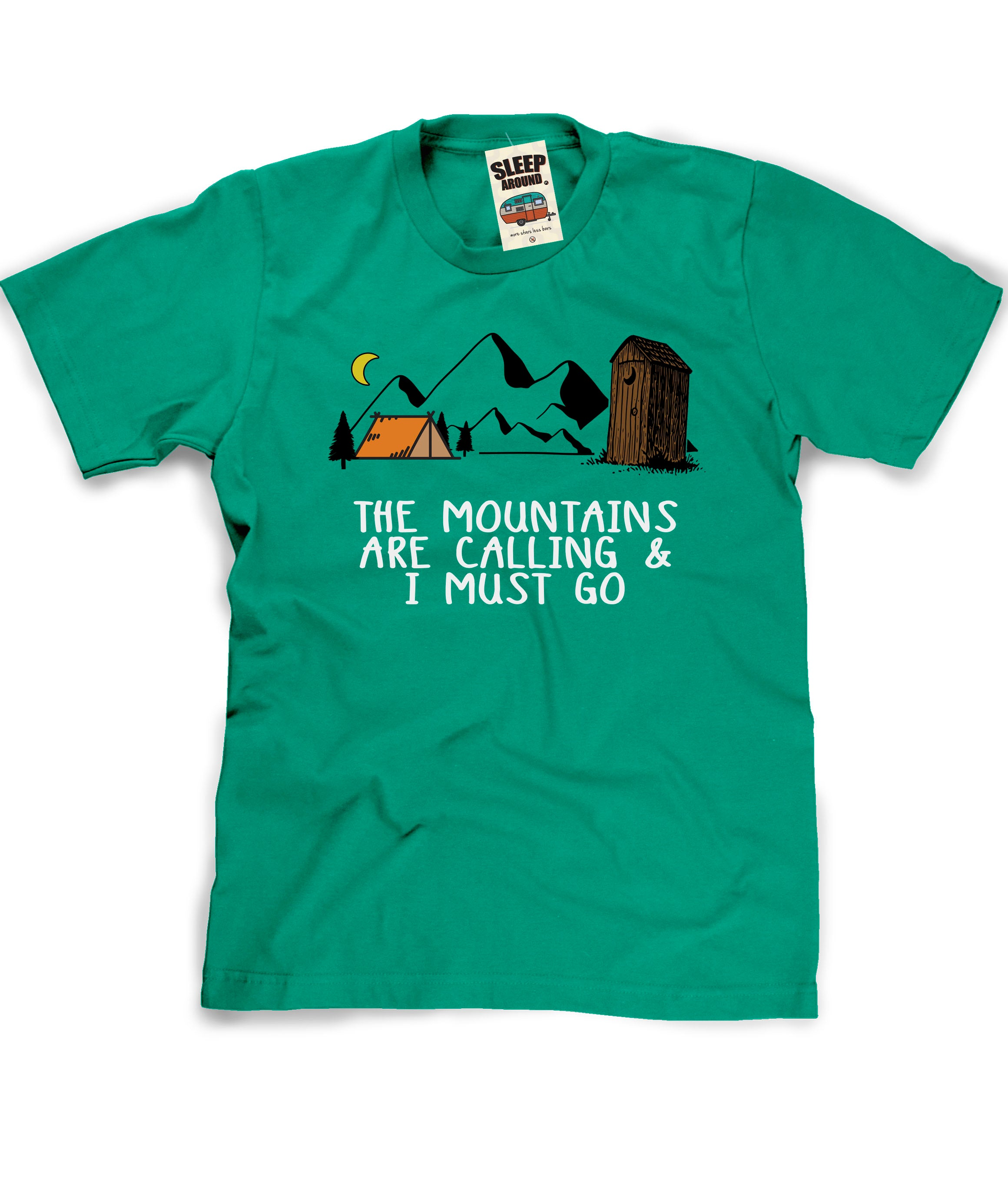 Mountains are Calling Camping Shirt in Green