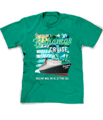 Bahamas Cruise tee in kelly green