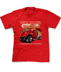 Personalized Hot Rod T-shirt in red