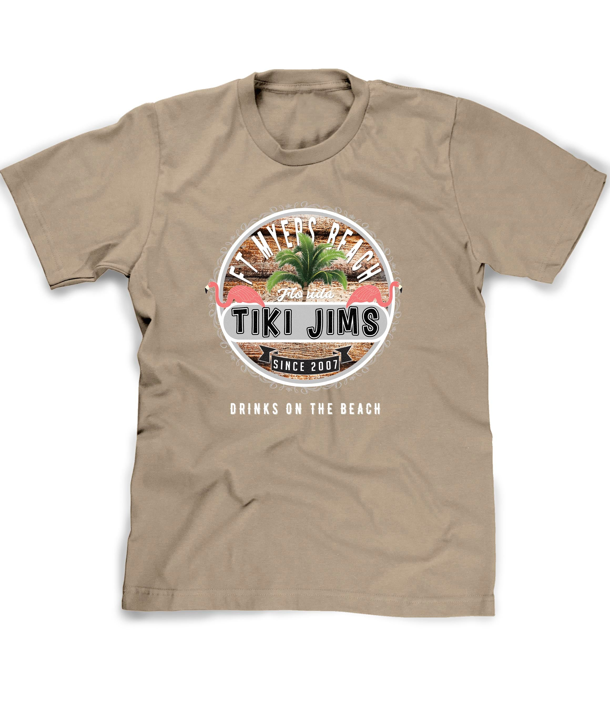 Beach Bar shirt in khaki Personalized