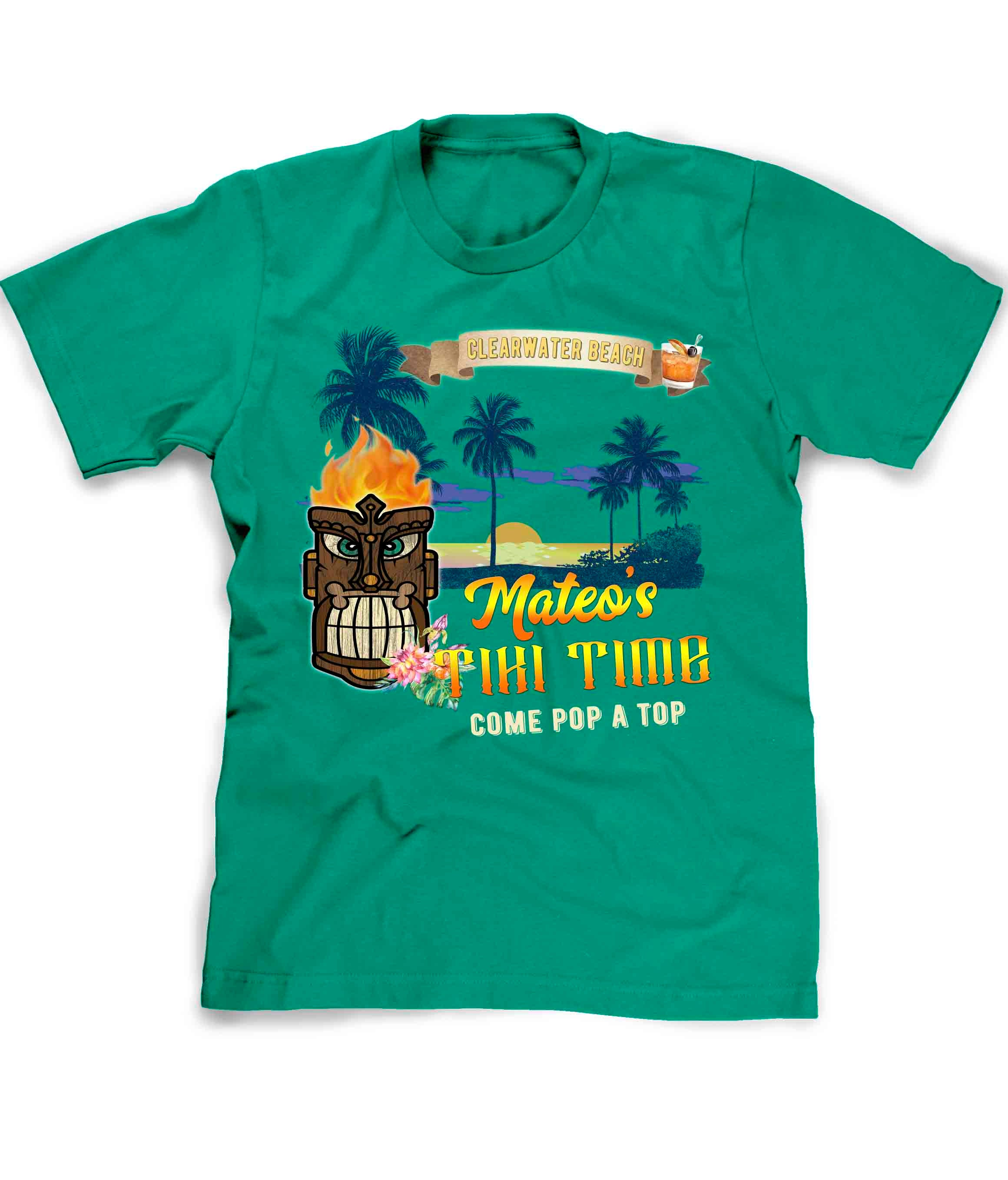 Tiki Bar t-shirt in green customized