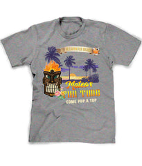 Tropical Beach Bar t-shirt in heather grey