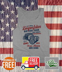 PERSONALIZED HOT ROD BIRTHDAY TANK TOP