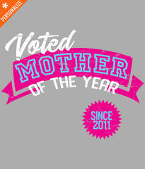 PERSONALIZED MOTHER OF THE YEAR T-SHIRT DESIGN
