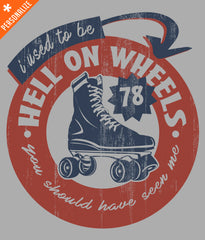 PERSONALIZED HELL ON WHEELS T-SHIRT DESIGN CLOSEUP