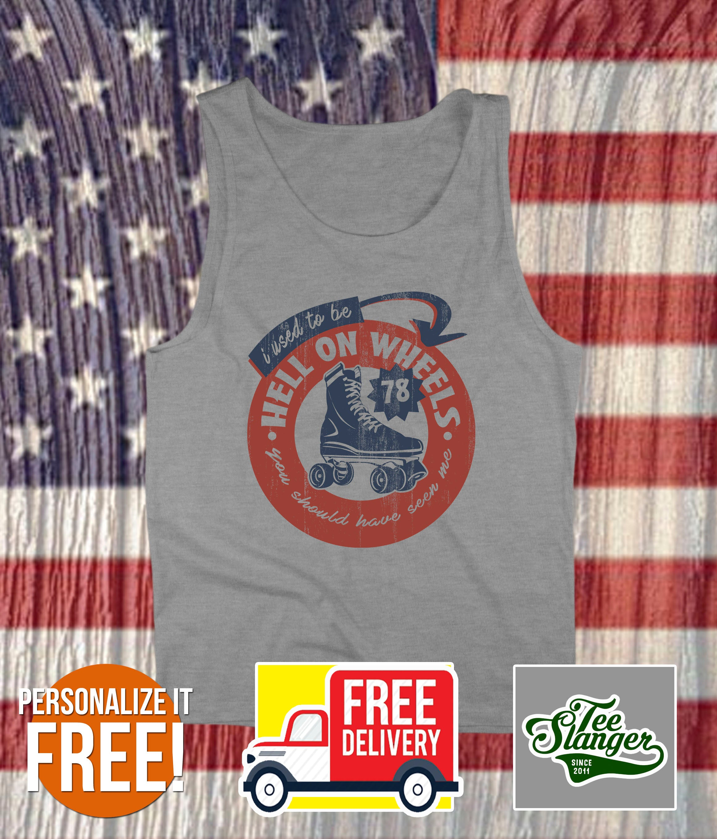 PERSONALIZED HELL ON WHEELS TANK TOP